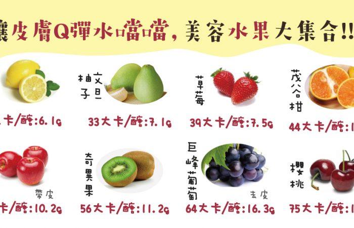 美容水果大集合~讓皮膚Q彈水噹噹!!