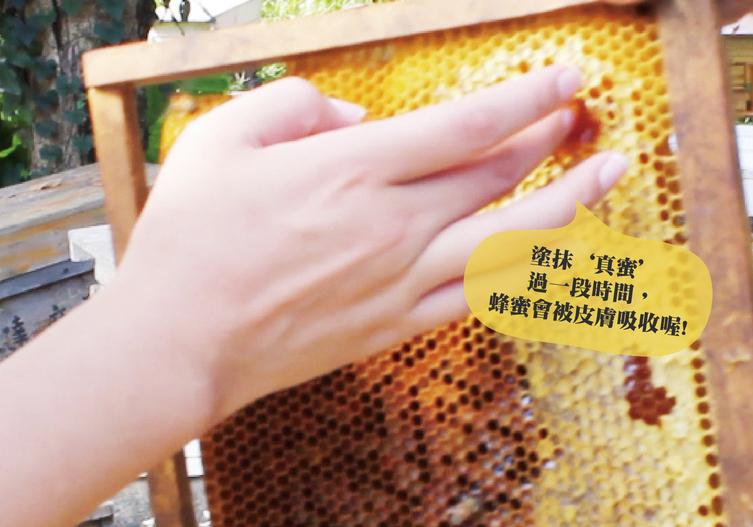 真正的蜂蜜會被皮膚吸收
